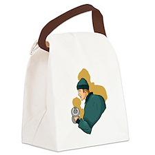 Curls Canvas Lunch Bag