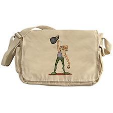 Kettlebell Exercise Messenger Bag