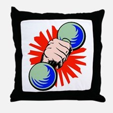 Dumbbell Throw Pillow