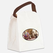 EASTER BULLDOG Canvas Lunch Bag