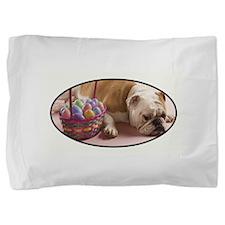 EASTER BULLDOG Pillow Sham