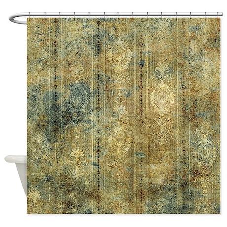Vintage Design Shower Curtain By Nobledesign1
