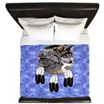 Eagle Feathers Wolf King Duvet