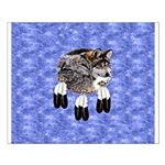 Eagle Feathers Wolf Small Poster