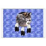 Eagle Feathers Wolf Large Poster