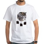 Eagle Feathers Wolf White T-Shirt