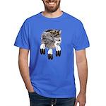 Eagle Feathers Wolf Dark T-Shirt