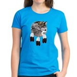 Eagle Feathers Wolf Women's Dark T-Shirt