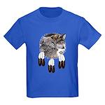 Eagle Feathers Wolf Kids Dark T-Shirt