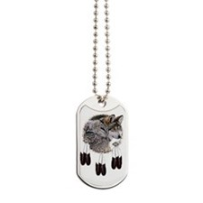 Eagle Feathers Wolf Dog Tags