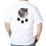 Eagle Feathers Wolf Golf Shirt