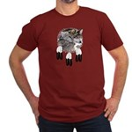 Eagle Feathers Wolf Men's Fitted T-Shirt (dark)