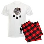 Eagle Feathers Wolf Men's Light Pajamas