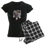 Eagle Feathers Wolf Women's Dark Pajamas