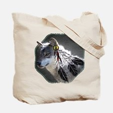 Eagle Feathers Wolf Tote Bag