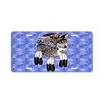 Eagle Feathers Wolf Aluminum License Plate