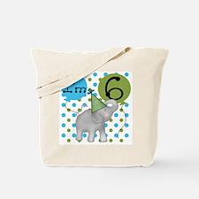 Elephant 6th Birthday Tote Bag