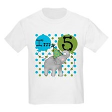 Elephant 5th Birthday T-Shirt