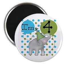 Elephant 4th Birthday Magnet