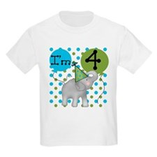 Elephant 4th Birthday T-Shirt