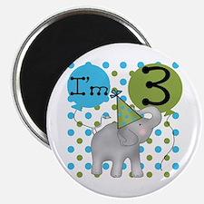 Elephant 3rd Birthday Magnet