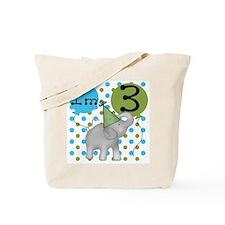 Elephant 3rd Birthday Tote Bag