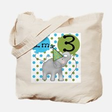 Elephant 3rd Birthday Tote Bag