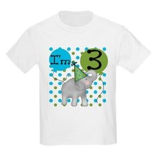 Elephant 3rd Birthday T-Shirt