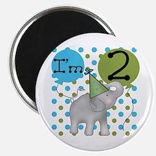Elephant 2nd Birthday Magnet