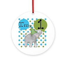 Elephant 1st Birthday Ornament (Round)