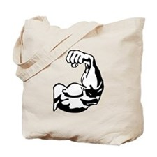 Flexing Bicep Tote Bag