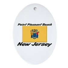 Point Pleasant Beach New Jersey Oval Ornament