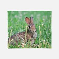 Cottontail Rabbit Throw Blanket