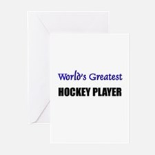 Worlds Greatest HOCKEY PLAYER Greeting Cards (Pk o