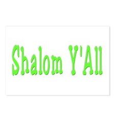 Shalom Y'all Postcards (Package of 8)