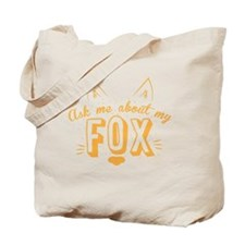 Ask me about my Fox (cute retro vintage d Tote Bag
