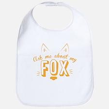 Ask me about my Fox (cute retro vintage design Bib