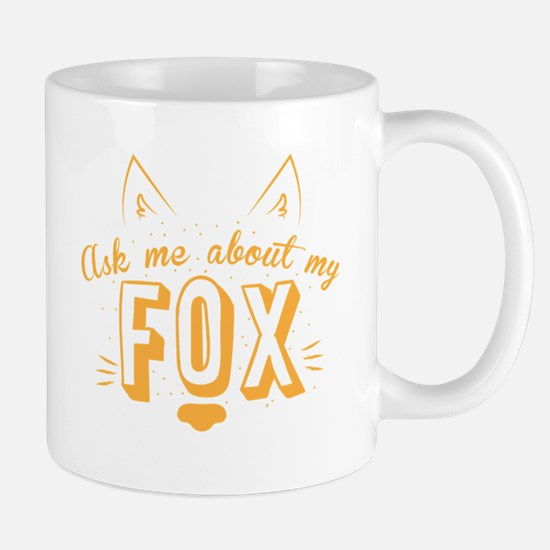 Ask me about my Fox (cute retro vintage Mugs
