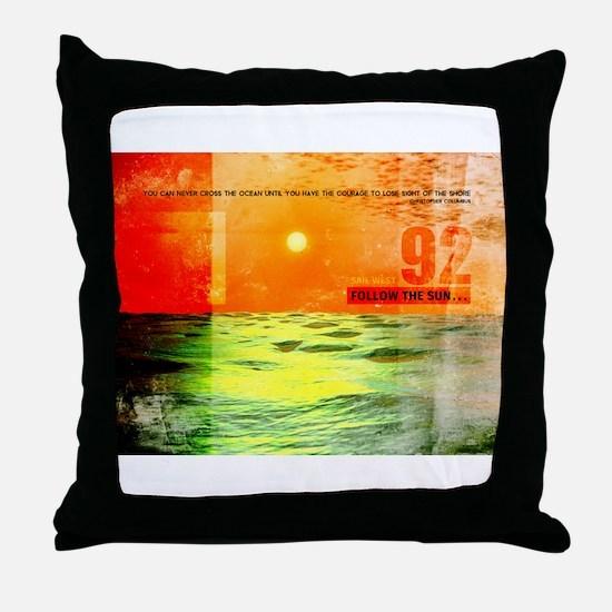 Christopher Columbus 1492 Throw Pillow