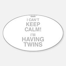I Cant Keep Calm! Im Having Twins Decal