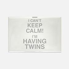 I Cant Keep Calm! Im Having Twins Magnets