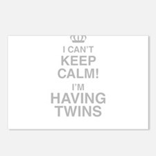 I Cant Keep Calm! Im Having Twins Postcards (Packa