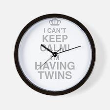 I Cant Keep Calm! Im Having Twins Wall Clock