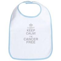 I Cant Keep Calm! Im Cancer Free Bib
