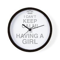 I Cant Keep Calm! Im Having A Girl Wall Clock