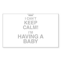 I Cant Keep Calm! Im Having A Baby Sticker