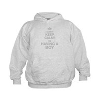 I Cant Keep Calm! Im Having A Boy Hoodie