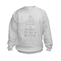 I Cant Keep Calm Im Going To Be A Big Sis Sweatshi