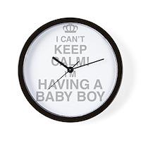 I Cant Keep Calm! Im Having A Baby Boy Wall Clock
