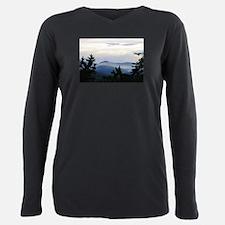 Smoky Mountain Sunrise Plus Size Long Sleeve Tee
